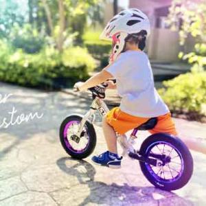 【ストライダー】4歳息子のNEWホイールに『華丸FayΦ(ファイ)』を採用!子どもの反応は