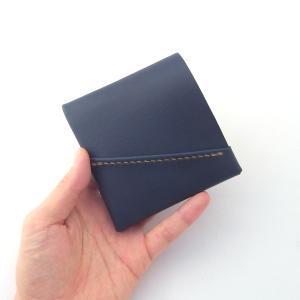 青いミニ財布と黒いミニ財布。