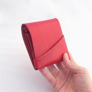 左利き用の赤いミニ財布もできましたよー。そしてもう1つ…
