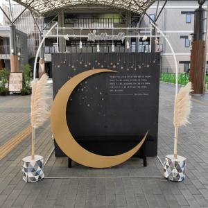 【2020年9月版:遊び場】都城市立図書館(Mallmall まるまる)|まちなか広場に「お月見ブース」が出現!