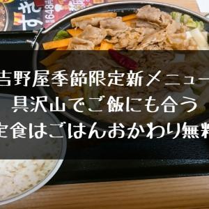 【季節限定】吉野屋【新メニュー】