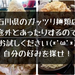 【石川県のガッツリラーメン】ガッツリ麺類まとめ【ボリューミーやて】