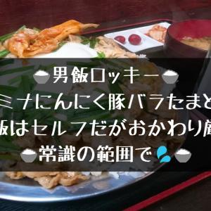 【小松市ガッツリグルメ】男飯ロッキー スタミナにんにく豚バラたまとじ飯