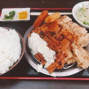 石川県小松市のガッツリ食堂【男飯ロッキー】バルボア定食 唐揚げすご