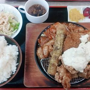 石川県小松市のメガ盛り食堂【男飯ロッキー】ランチでおなかいっぱい・エイドリアン定食