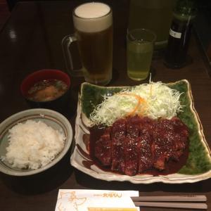 「リブとんかつ定食」(名古屋 名古屋駅「矢場とん 名古屋駅名鉄店」)