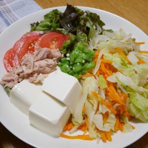 サラダをオカズに、ご飯を食べた。