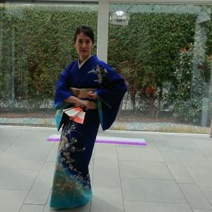 ドイツで久しぶりに日本舞踊のお稽古♡