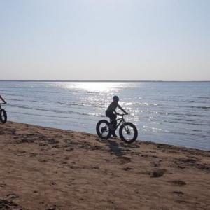 """先日街で見かけたあのぶっ飛んだ自転車は""""ファットバイク""""と言うものだった!!"""