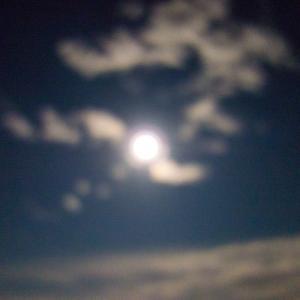 今日はお月様がまるくて綺麗な夜空でした