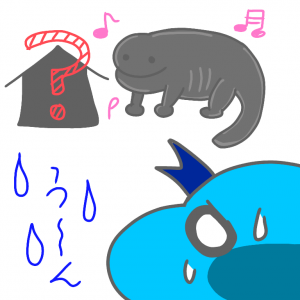 【エゾサンショウウオ】水槽とレイアウトを考える