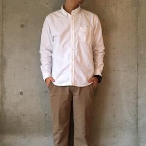 【gu】オックスフォードシャツ(メンズ)のコーデやサイズ感をレビュー