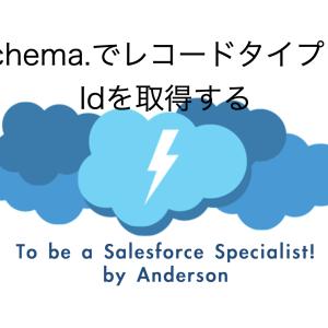 Schema.でレコードタイプ のIdを取得する【セールスフォース】