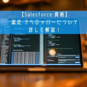 【Salesforce 資格】認定 デベロッパーについて詳しく解説!
