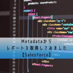 Metadataからレポートを取得してみました【Salesforce】