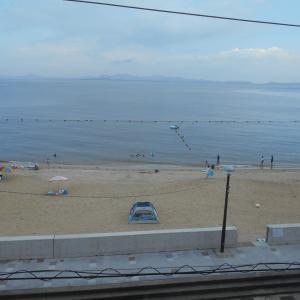 こももちゃんと篠島へ海水浴②
