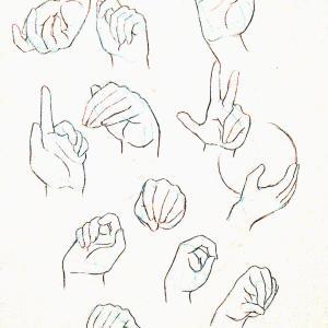 【練習日記9日目】動きのある手