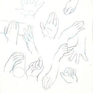 【練習日記10日目】半分想像で手を描く