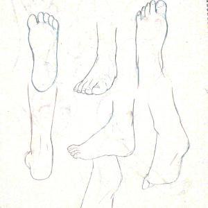 【練習日記15日目】足の裏/甲