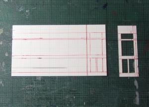 マニ32 デッキドアの工作1