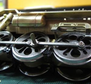 13mmでC62を作る150 非公式側エアタンク取り付け(続き)