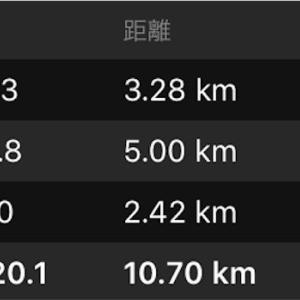8月23日日曜日 Tペース走5km/シューズ届く