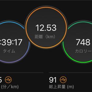 8月29日日曜日 ゆるゆるジョグでしか走れない1時間半