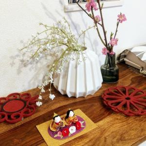 焼き芋と桃の花