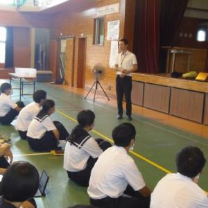 派遣354/607日目、野尻中学校キャリア教育講演会