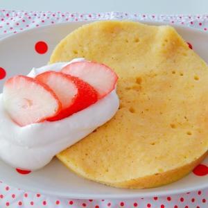 レンジで作る低糖質な時短パンケーキ