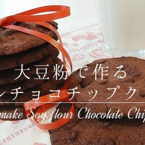 大豆粉で作るダブルチョコチップクッキー