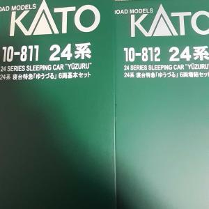 Kato 寝台特急24系 ゆうづる 基本6両10-811/増結6両10-812