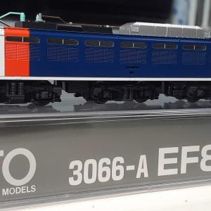 Kato  3066-A  EF81 カシオペア色 入線