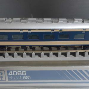 Kato 旧583系 4086 サハネ581 入線 13両編成完成