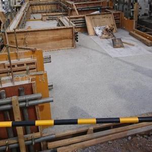 基礎工事 コンクリートが打設されました。