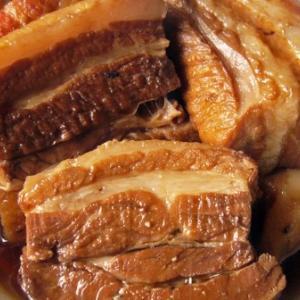 煮豚を使ったポークカレー