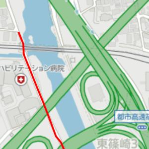 11月9日、目的地は小倉競馬場①(紫川沿い)