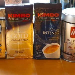 コーヒー飲み比べ 【illy(イリー), KIMBO(キンボ), LAVAZZA(ラバッツァ)】