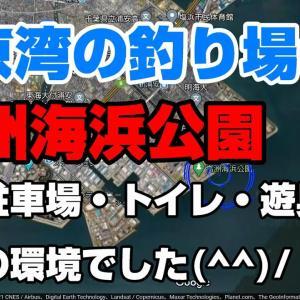 東京湾の釣り場③高州海浜公園は子供も遊べるシーバスやカレイが釣れる浦安の釣り場。
