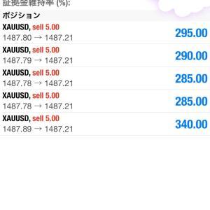 本日の取引 2019年11月6日 GOLDで120万の利益!!