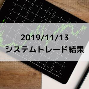2019/11/13 システムトレード結果