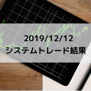 2019/12/12 システムトレード結果