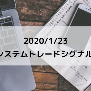 2020 1/23 システムトレードシグナル