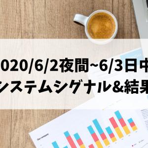 2020/6/2夜間~6/3日中 システムシグナル&結果