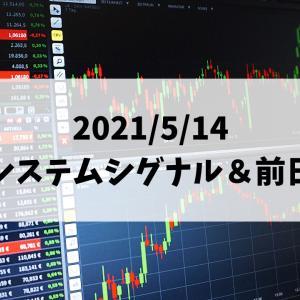 日経225先物システムトレード 2021/5/14 夜間システムシグナル&前日結果