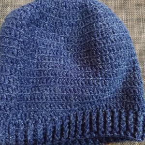 自分用のニット帽をかぎ編みで