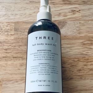 『THREE』のフルボディ ウォッシュが良い感じ