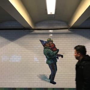 マンハッタンの 地下鉄の 壁画