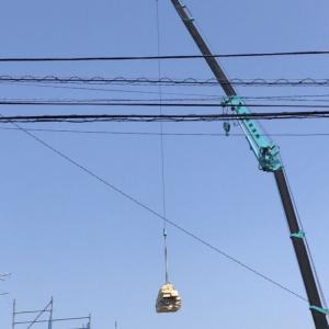 着工から38日目・クレーンで建て方工事...三井ホームで建ててるお家