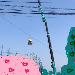 着工から40日目 クレーン・建て方工事2日目...三井ホームで建ててるお家